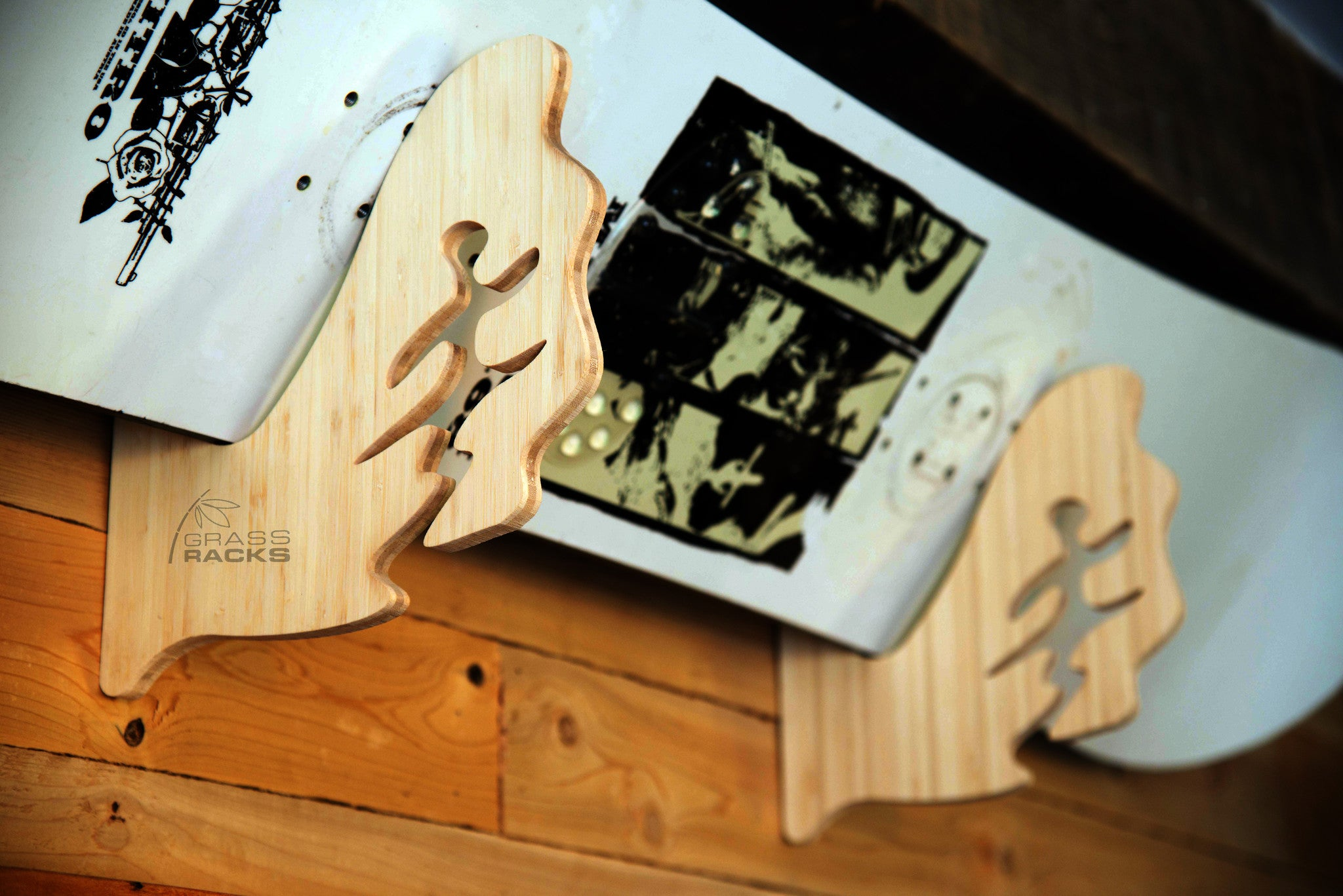 wall mount skateboard display