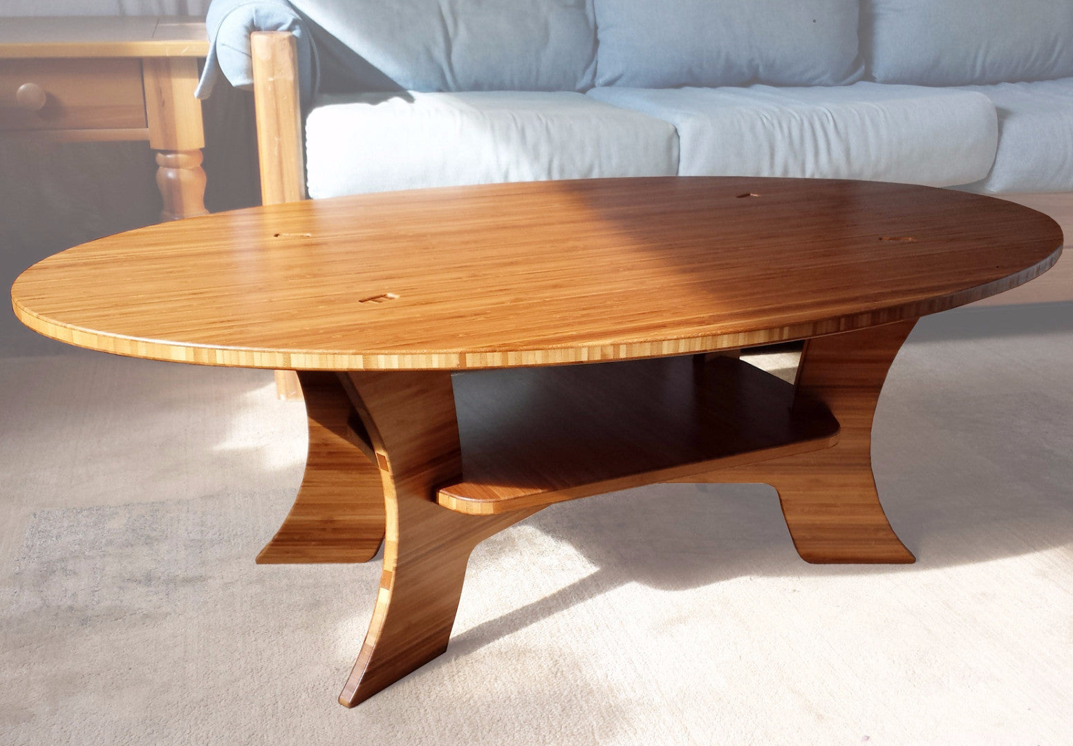 The Samurai Series - Bamboo Oval Coffee Table