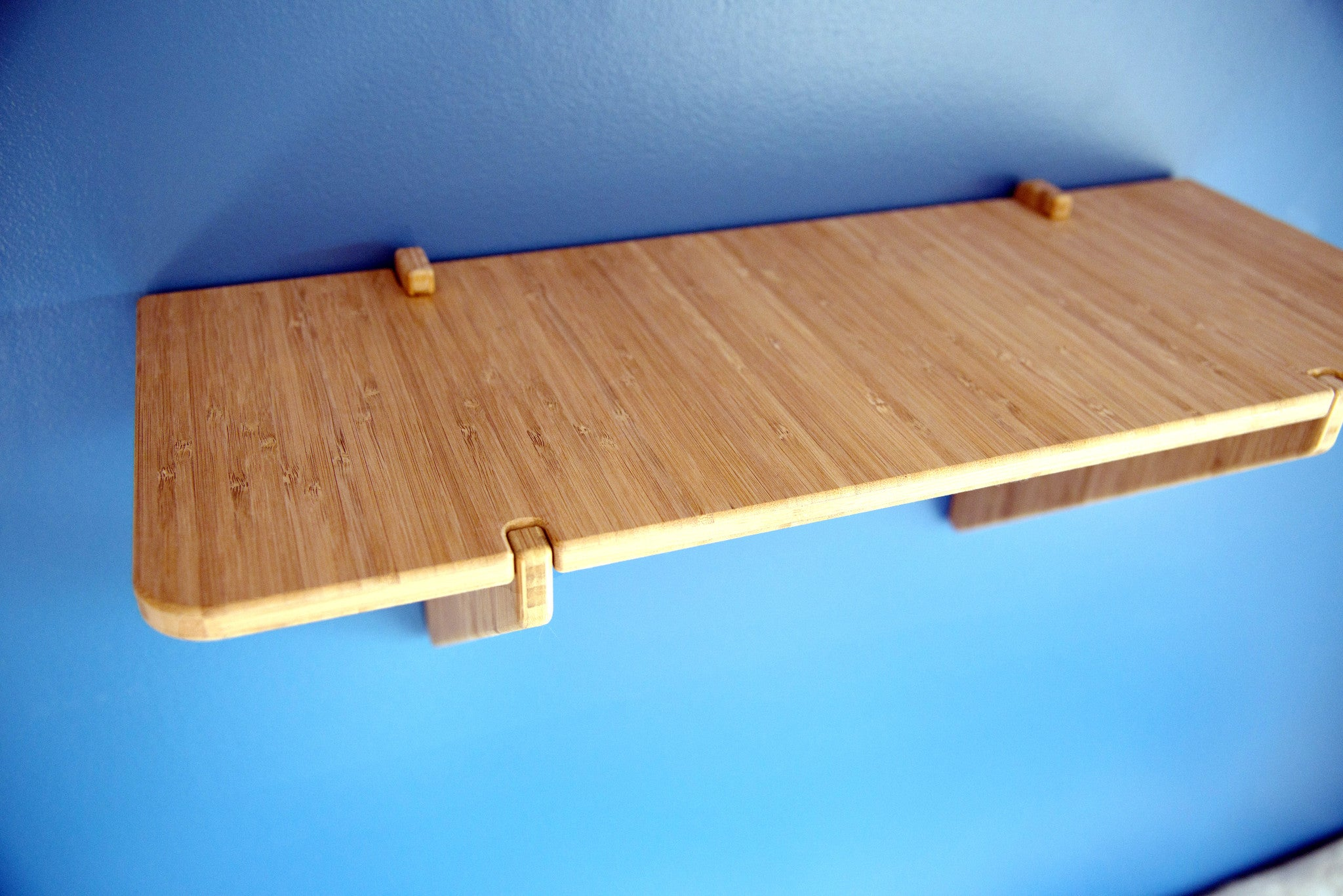 Contemporary Floating Wall Shelf Bamboo