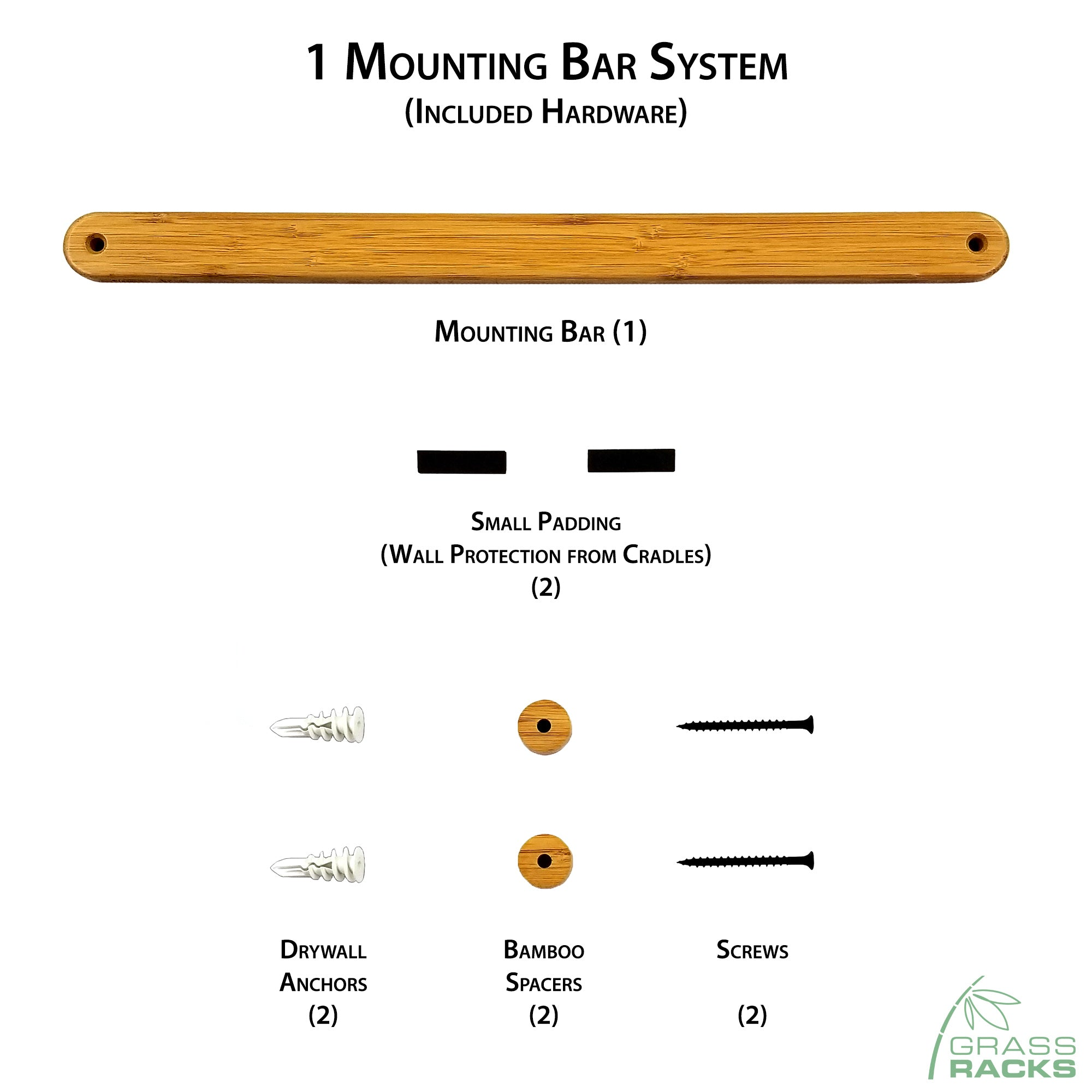 Bamboo Floating Shelf Wall Mounting System