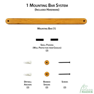 Snowboard Wall Rack Mounting System Hardware