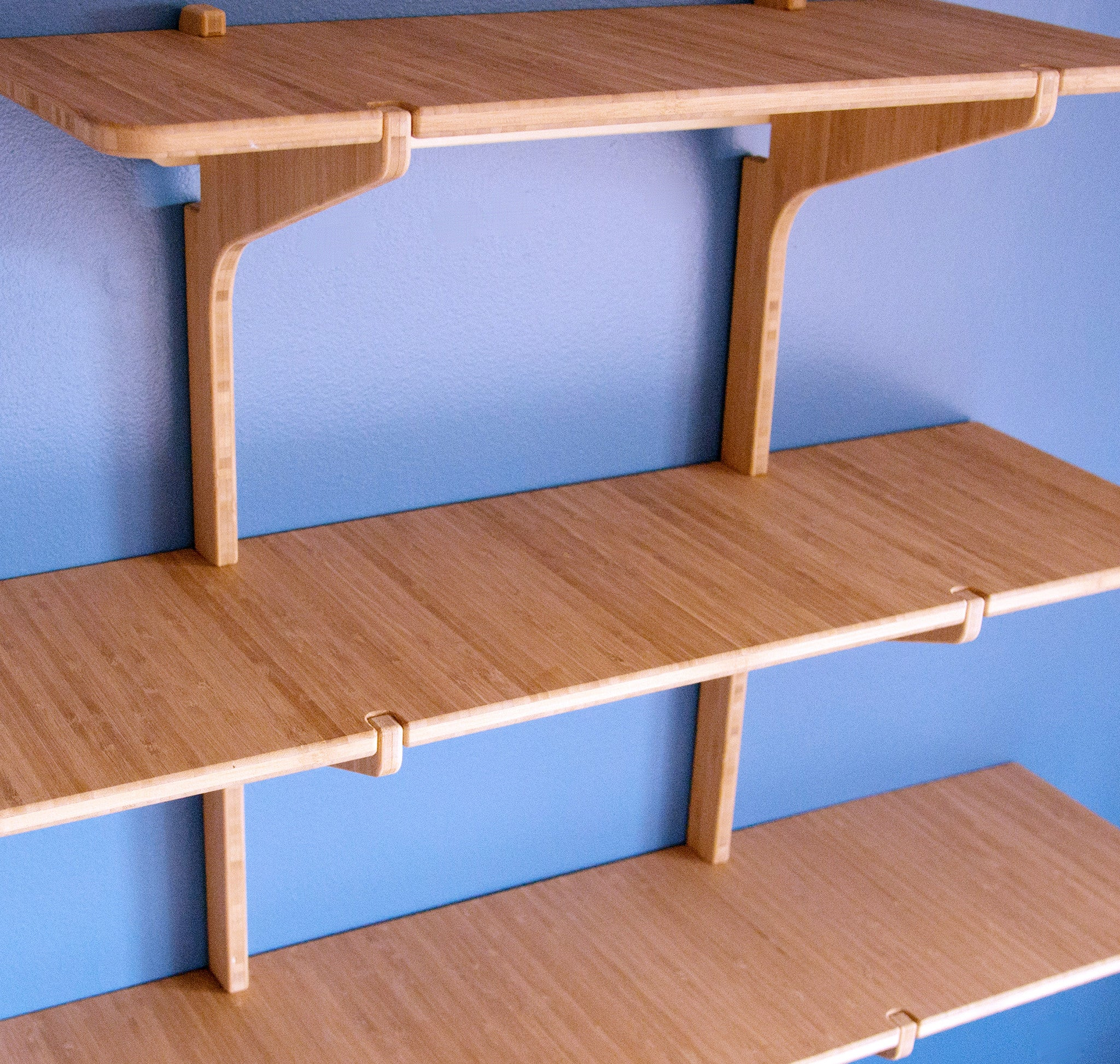 Bamboo Floating Shelves | Grassracks - Bamboo Surfboard Racks | SUP ...