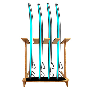 4 Surfboard Rack - Vertical Surf Rack