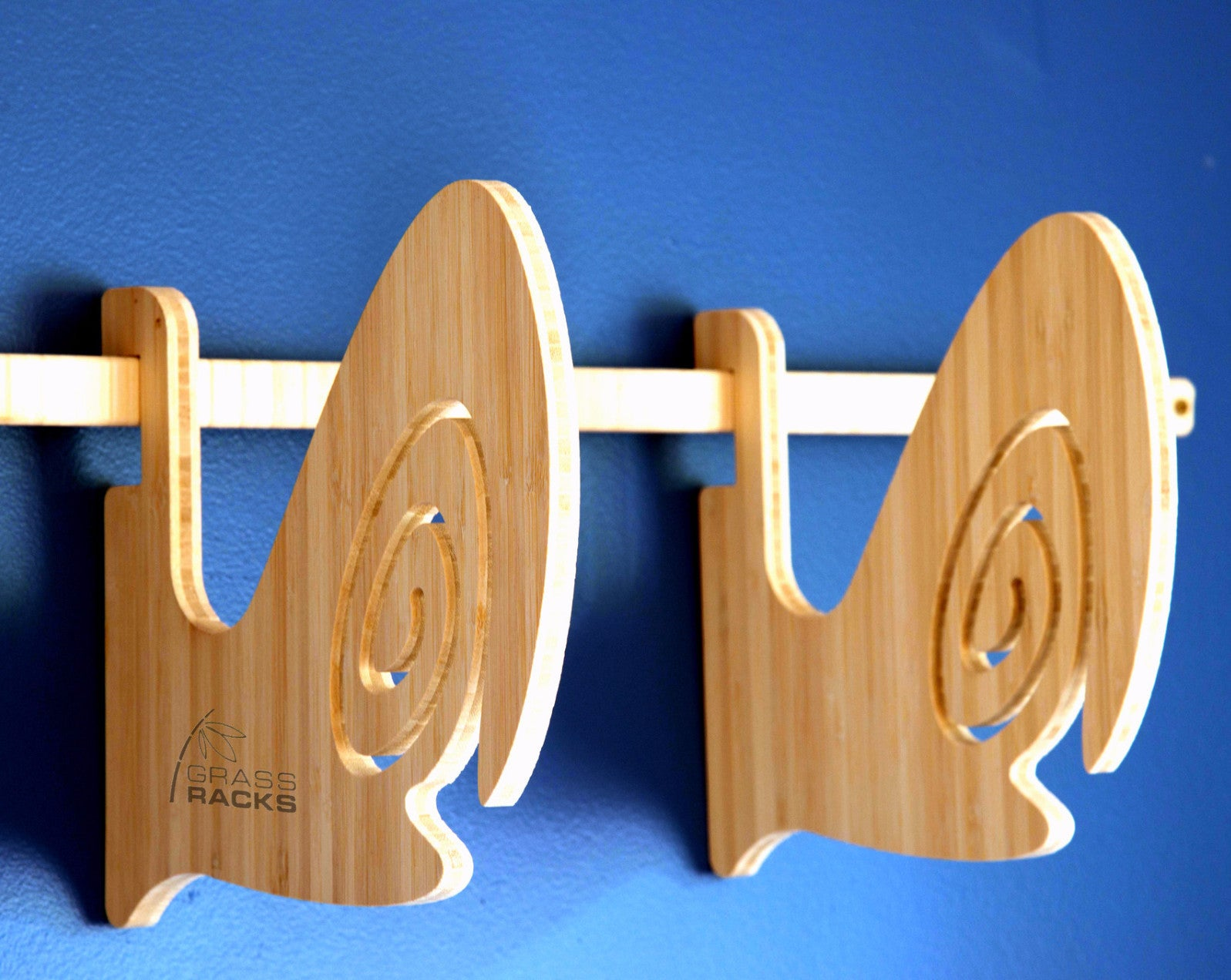 Surf Rack by Grassracks - Bamboo Wall Mount Surfboard Rack