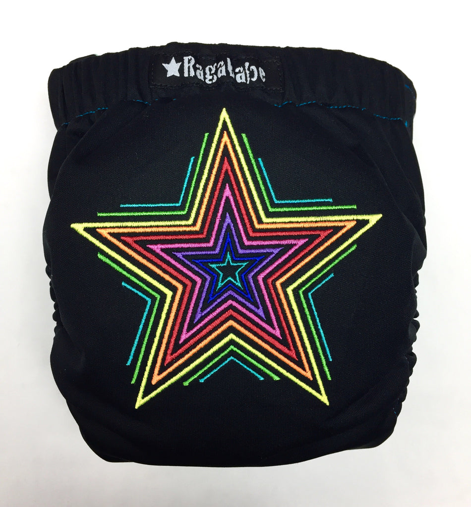 Star Embroidery Rainbow Wings