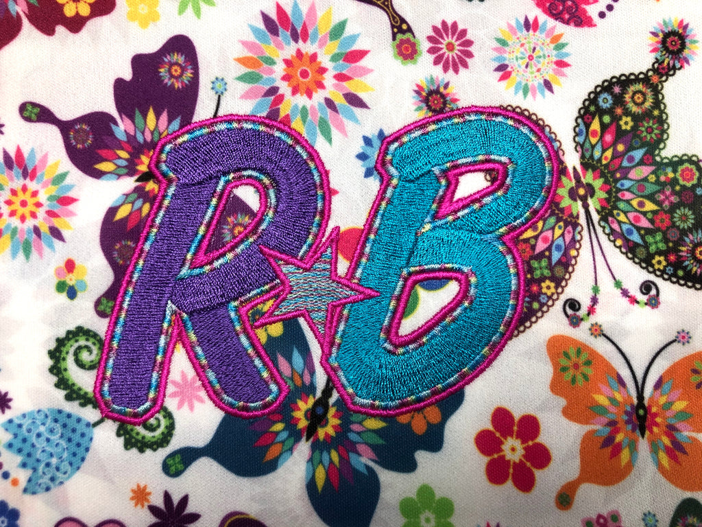 'RB' Embroidered Semi-Custom Diapers