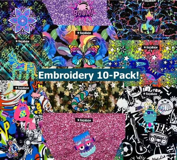 2020 Anniversary Embroidery 10-PACK
