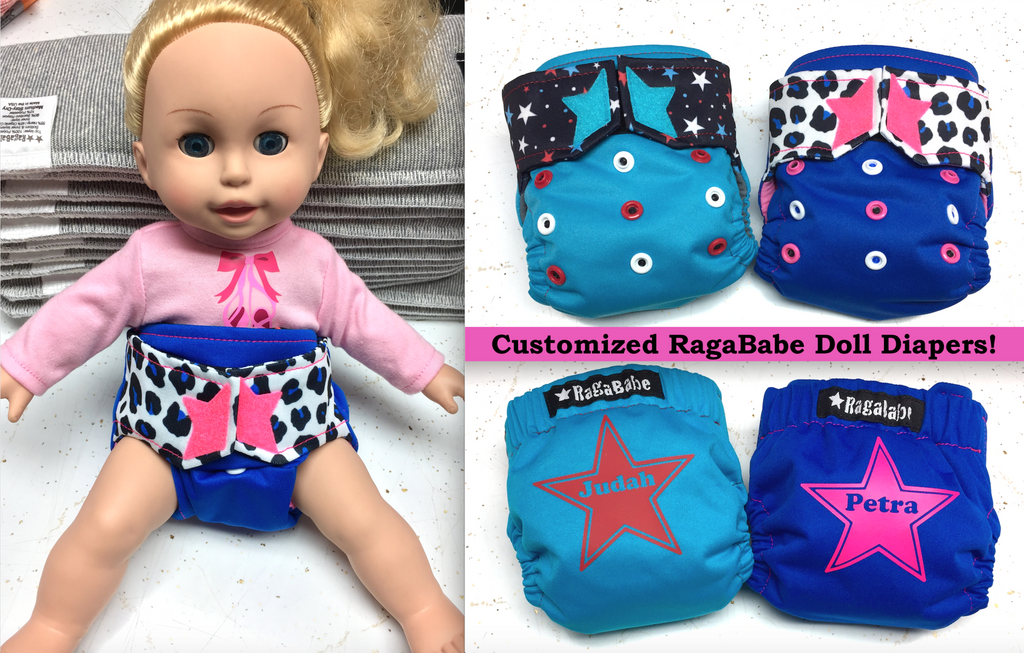 RagaBabe Personalized Doll Diapers
