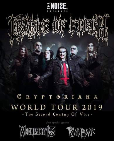 Raven Black release 'Carnival', Tour with Cradle Of Filth