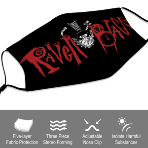 Raven Black [Stitches] - Face Mask and Dust Cover with Spare Filters