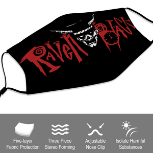 Raven Black [Doctor] - Face Mask and Dust Cover with Spare Filters
