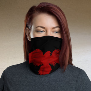 Raven Black [Red Raven] - Neck Gaiter and Face Cover