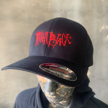 Load image into Gallery viewer, Raven Black Logo - FlexFit Cap