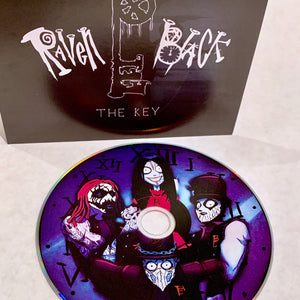 RavenBlack-TheKey-standard edition-blue disk-black and white cover