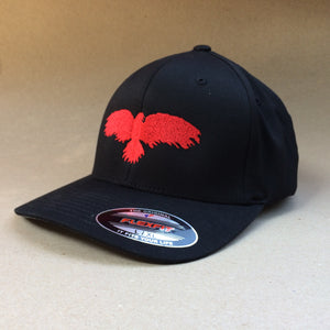Raven Black Flex Fit hat cap