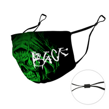 Load image into Gallery viewer, Raven Black [Green Skull] - Face Mask and Dust Cover with Spare Filters