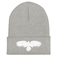 Load image into Gallery viewer, White Raven - Cuffed Beanie