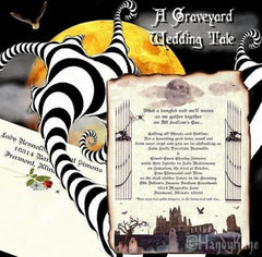 Halloween Wedding Invitations and Favors