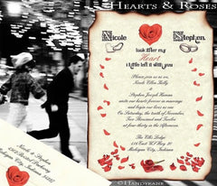 Rose Heart | Ring Wedding Invitations and Favors