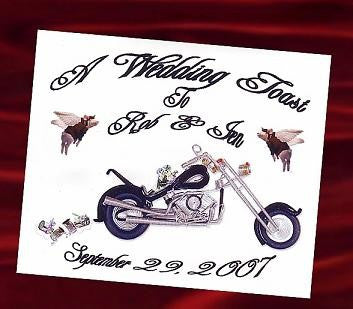 Favors Wine Label Motorcycle Biker Freedom Theme