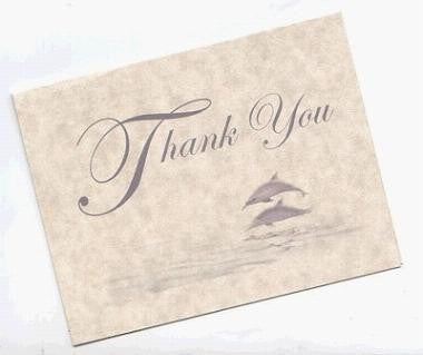 Thank You Cards Dolphin Wedding Theme