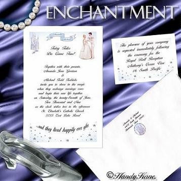 Invitations Single Page Fairytale Princess Enchantment Theme Wedding & Reception Card