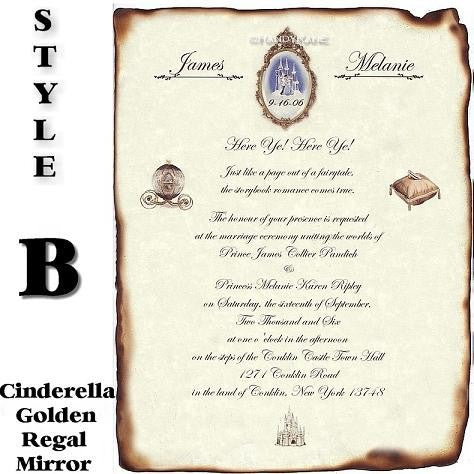 Fairytale Cinderella Wedding Invitations Handykane – Cinderella Wedding Invitation