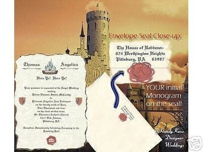Invitations Scroll Fairytale Princess Renaissance Castle Theme Wedding