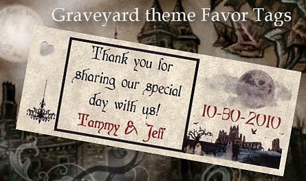 Favors Favor Tag Halloween Gothic Theme