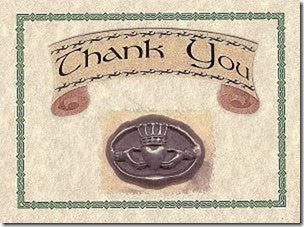 Thank You Cards Irish Wedding