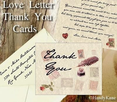 Thank You Cards Love Letter Theme Wedding