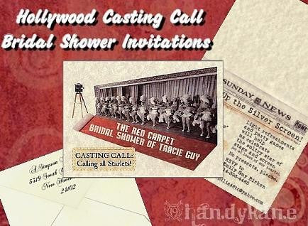 Bridal Shower Invitations Hollywood Movie Red Carpet Theme