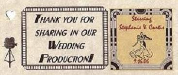 Favors Favor Tags Hollywood Movie Theme