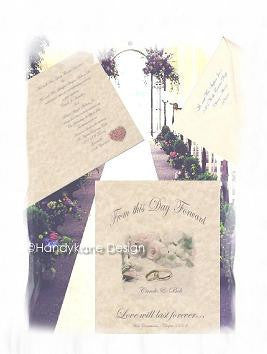 Invitations Folded Ring Theme Wedding