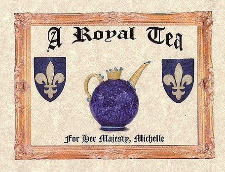 Bridal Shower Invitations Royal Scroll Tea Party Theme