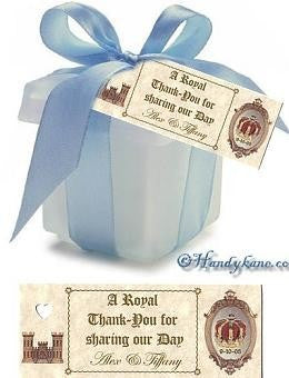 Favors Favor Tag Royal Scroll Theme