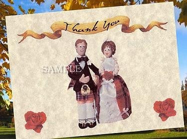 Thank You Cards Scottish Theme Wedding