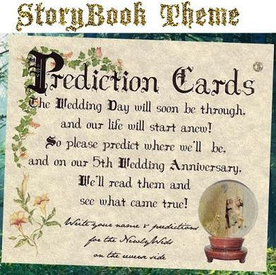 Favors Prediction Cards Storybook Fairy Tale Wedding Favor