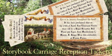Favors Reception Tickets Storybook FairyTale Carriage Theme