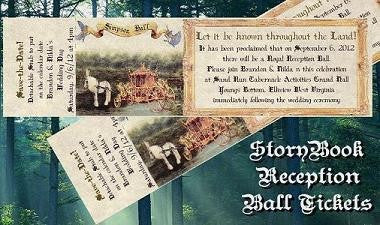 Favors Reception Tickets Storybook FairyTale Theme