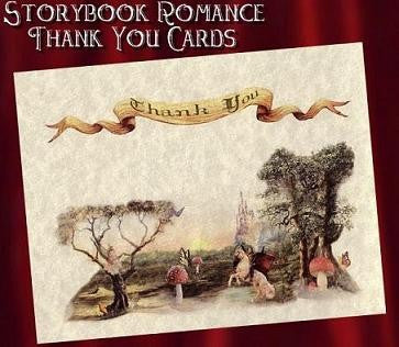 Thank You Cards Storybook Theme Wedding