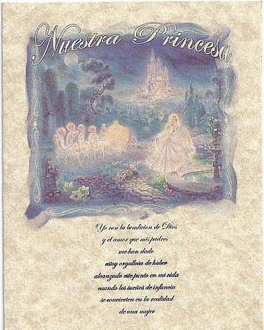 Invitations Folded Fairytale Princess Theme Sweet 16 Birthday Party