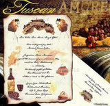 Package Scroll Invitation, Reception Ticket, RSVP & Thank You Card Tuscan Amore Italian Theme