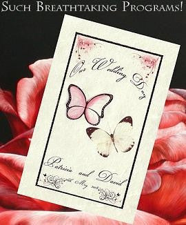 Programs Favor Whimsical Duchess Butterfly Theme w/ Inside Printing