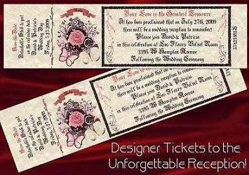 Favors Reception Ticket Whimsical Duchess Butterflies Theme