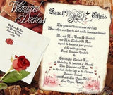 Package Scroll Invitation, Reception Ticket, RSVP & Thank You Card Whimsical Duchess Butterfly Theme