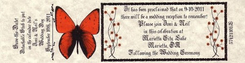 Favors Reception Ticket Whimsical Elegance Butterfly Theme