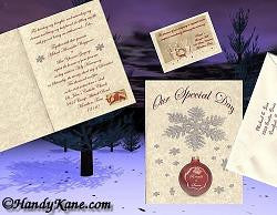 Invitations Folded Winter Snowflake Christmas Snowflake Theme Wedding