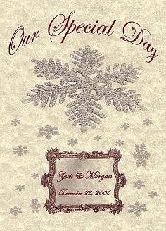 Invitations Folded Winter Snowflake Christmas Snowflake Mirror Theme Wedding