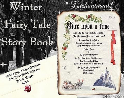 Invitations Scroll Winter Fairy Tale Royal Scroll Theme Wedding